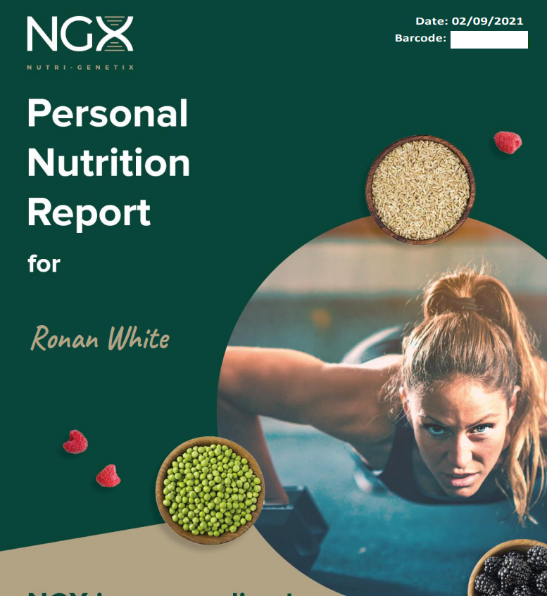 NGX Personal Nutrition Report