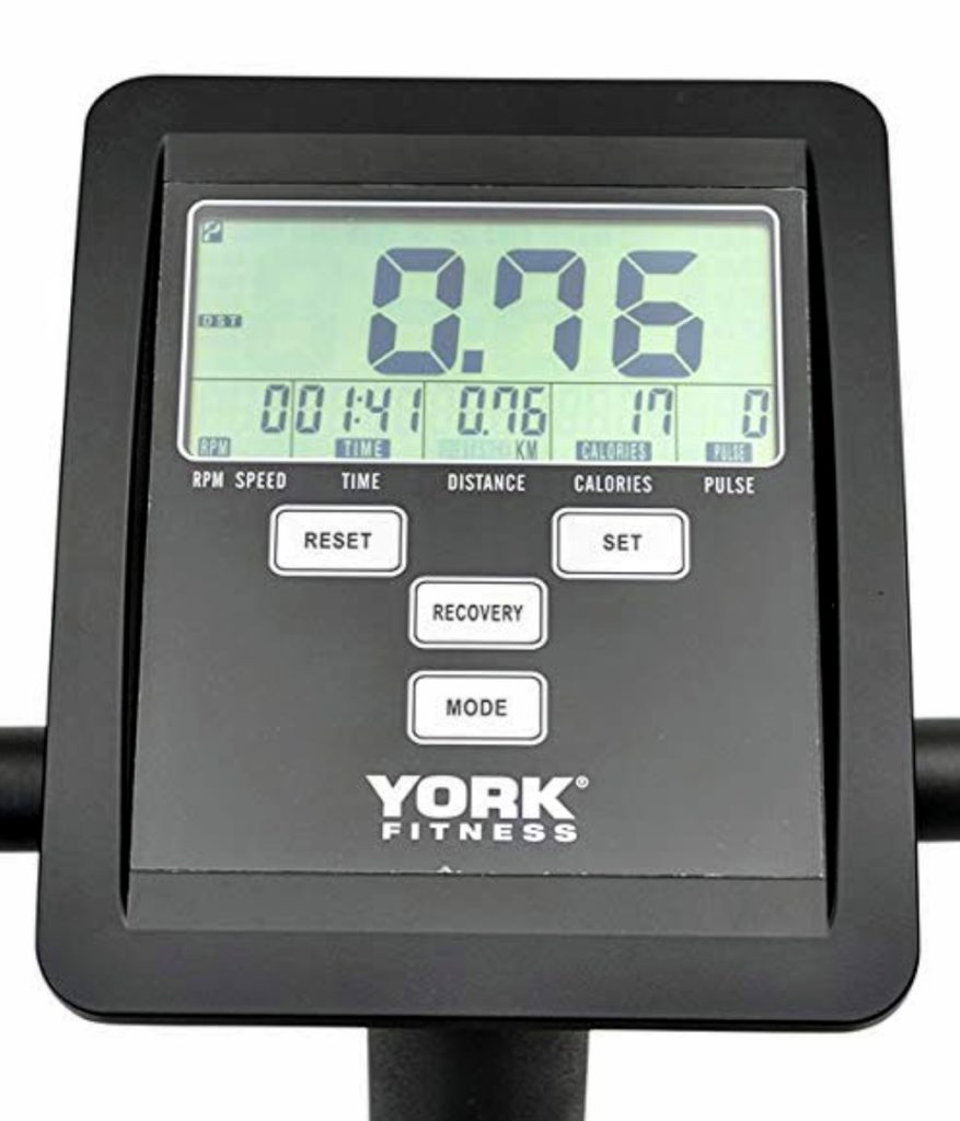 York Active 110 Exercise Bike Console